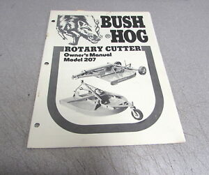 Bush Hog 207 Rotary Cutter Owner s Manual