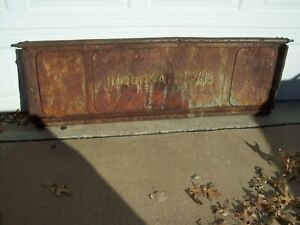 Vintage Antique International Truck Tailgate Nice Old Patina Garage Art Rat Rod