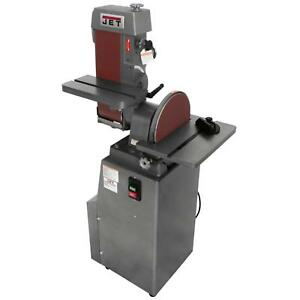 JET Finishing Machine 6 x 48 in. Industrial Combination Belt and 12 in. Disc
