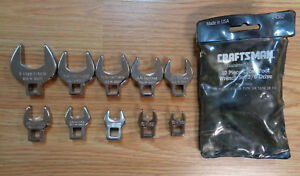 Usa Made Craftsman Sae Inch Crowfoot Wrench Set 3 8 Drive Crowsfoot Crow Foot