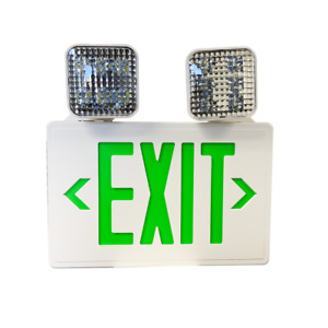 Emergilite Led White Exit Sign Green Letter Combination Unit Elxn400g 2sql 25021