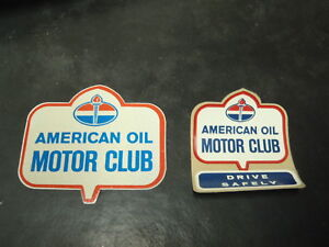 Nos American Oil Standard Motor Club Stickers 50 S 60 S Gm Ford Mopar Car Decal