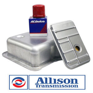 Transmission Pan W Filters Kit Genuine Allison Deep Chevy Duramax 2500 Hd 3500
