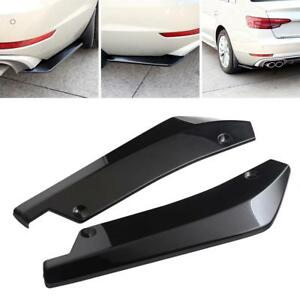 2pcs Car Universal Black Rear Bumper Lip Diffuser Splitter Canard Protector