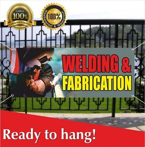 Welding Fabrication Banner Vinyl Mesh Banner Sign Fabrication Auto Body Shop