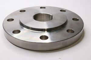 Gle 4 x2 Threaded 304 Stainless Steel Flange Ff 4805 Class 150 8 Bolt Holes