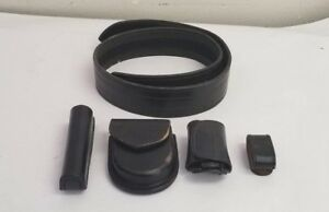 Size 34 Vintage Leather Security Belt With Accessories lot A6