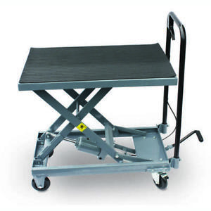 Heavy Duty 500 Lb Hydraulic Table Cart Foot Pedal Lift Stand Garage Shop Tool