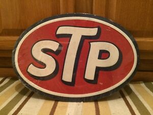 Stp Oil Racing Wall Decor Metal Vintage Style Gas Car Truck Bar Pub Garage