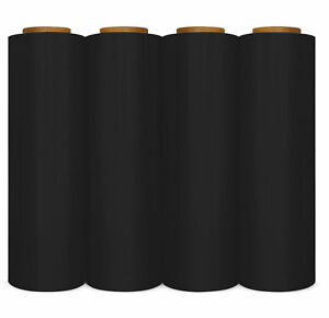 4 Rolls 18 6000 3 Core 80 Gauge Industrial Shrink Wrap Plastic Stretch Fil