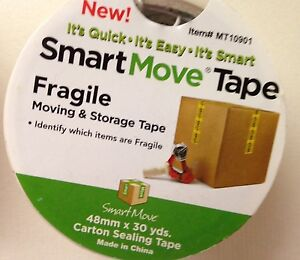 New fragile Marked Tape Moving storing Fragile Items 30 Yd Roll Fast Shipping