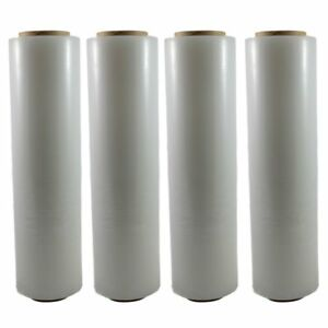 4 Clear 18 x 1500 Ft Roll 80 Gauge Thick Stretch Packing Wrap Pallet Shrink Film