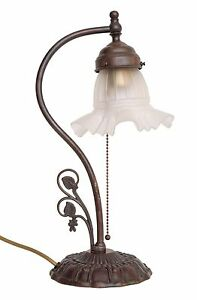 Beautiful Shabby Chic Art Nouveau Table Luminaire Piano Lamp Original