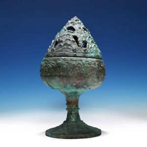 Wonderful Elegant Chinese Han Dynasty Bronze Baoshanlu Old Hill Censer Cs58