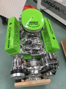 350 Sbc Crate Motor 502hp With A C Roller Chevy Turn Key Afr Cnc Heads