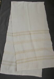 Towel Cloth Linen Scarf Folk Costume Fabric Vintage 1935 Homespun Beige