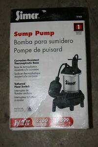Flotec Simer 1 2 Hp Submersible Thermoplastic Sump Pump