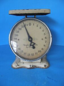 Antique Vintage American Family Scale 25 Pound Store Counter Scale