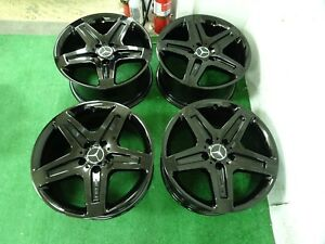 2018 Mercedes G550 G63 G55 Amg Oem Factory 19 Wheels Rims Gloss Black 5x130