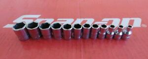 Snap On Tools 1 4 Drive 12 Pc Shallow Metric 6 Pt Socket Set 112tmmy 5mm 15mm
