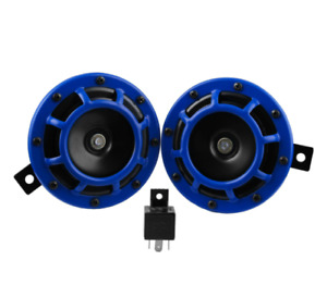 Car Tuning Compact Electric Loud Blast 12v Mount Super Tone Hella Horn Kit Blue