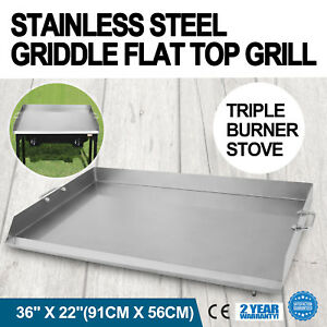 36 X 22 Stainless Steel Griddle Flat Top Grill Outdoor Kitchen Bbq Stove