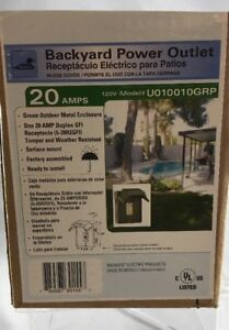 Ge U010010grp 20 Amp Outdoor Backyard Ac Outlet With Power Switch Green g38