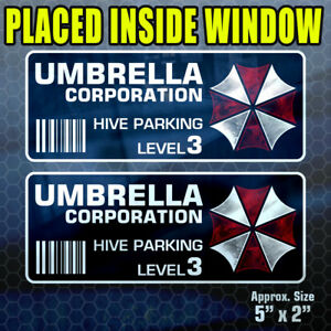 Inside 2 Pack Umbrella Hive Parking Level 3 Stickers Vinyl Decal Resident fs393