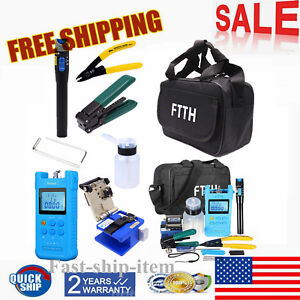 Ftth Splicing Splice Fiber Optic Stripping Tool Kit Set With Fiber Cleaver Fc 6s