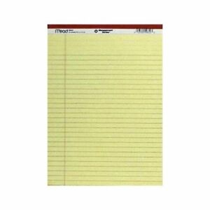Mead Legal Pad 8 1 2 In X 11 3 4 In Yellow