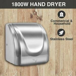 Upgraded High Speed Sturdy Hand Dryer 1800w Stainless Steel Auto Restroom