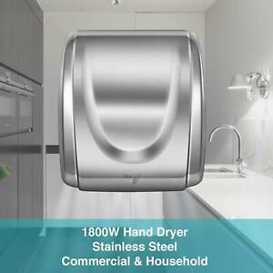 Upgraded High Speed Sturdy Hand Dryer 1800w Stainless Steel Auto Bathroom 12sec
