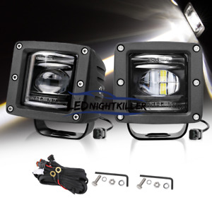 Sea Dot Pro 3 Led Cube Fog Lights Off Road Driving Fog For Truck Jeep Jk Ford
