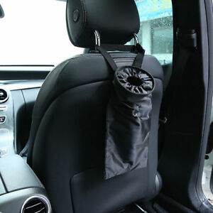 Car Seats Headrest Back Litter Can Organizer Trash Bags Washable Hanging Garbage
