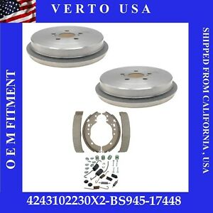 Rear Brake Drums Shoes Hardware For Toyota Corolla 2009 2010 2011 2012 To 2019