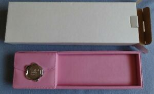Carlton Cards Leather Pen Pencil Tray Desk Organizer Pink 11 X 3 6 33 240a