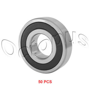 50pc Premium 609 2rs Abec3 Rubber Sealed Deep Groove Ball Bearing 9 X 24 X 7mm