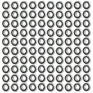 100pc Premium 686 2rs Abec1 Rubber Sealed Deep Groove Ball Bearing 16 X 13 X 5mm