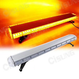 47 88w Amber yellow Led Strobe Light Bar Emergency Beacon Hazard Warning Flash
