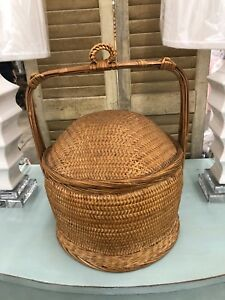 Old Vintage Antique Chinese Wedding Basket