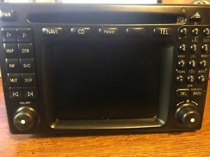 01 02 03 Mercedes benz Comand Navigation Gps Radio Cd Player Lcd Display Screen