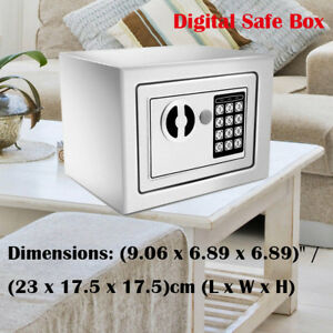 Digital Safe Box Electronic Lock Fireproof Security Home Office Money Metal Wx