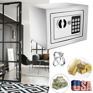 Portable Electronic Security Safe Box Money Jewelry Cash Keypad Passport Us Wx