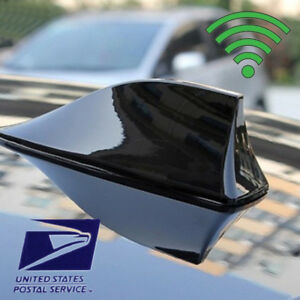 Black Car Shark Fin Universal Roof Antenna Radio Fm Am Decorate Aerial