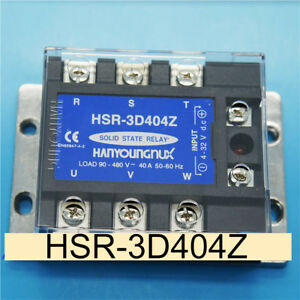 1pc Hanyoung Hsr 3d404z 3 phase Low Voltage Ac Input Load Solid State Relay ss