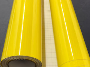 12 X 60 Super Gloss Yellow Vinyl Film Wrap Sticker Air Bubble Free 1ft X 5ft