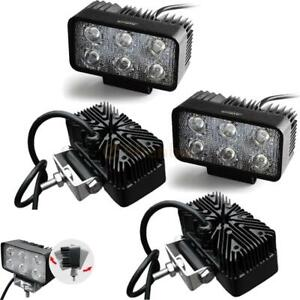 4x 18w Spot Square Led Work Light For Bar Offroad Jeep 4wd Driving Lamp Boat 12v