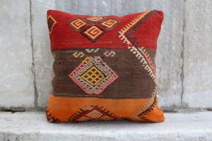 Handmade Kilim Pillow Cushion Cover Decorative Ethnic Tribal Pillow 20 X 20