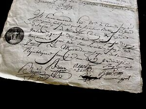 1700s Old Document On Paper