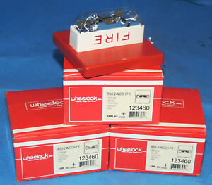 Lot 3 New Wheelock 115 177 Cd Red Ceiling Strobe 24vdc Fire Alarm Rss 24mcch fr